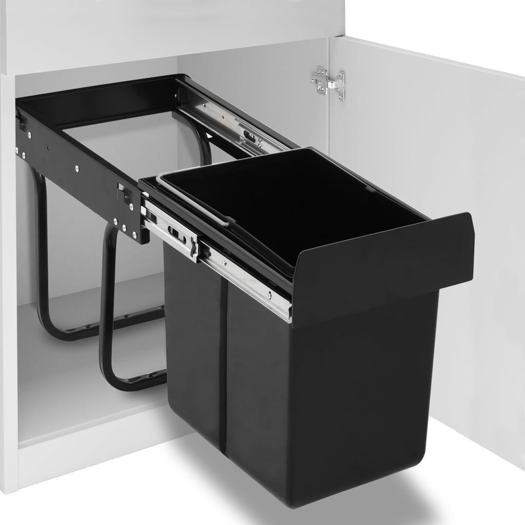 Kosz na śmieci vidaXL szafkowy nie dotyczy czarny (51178) 1