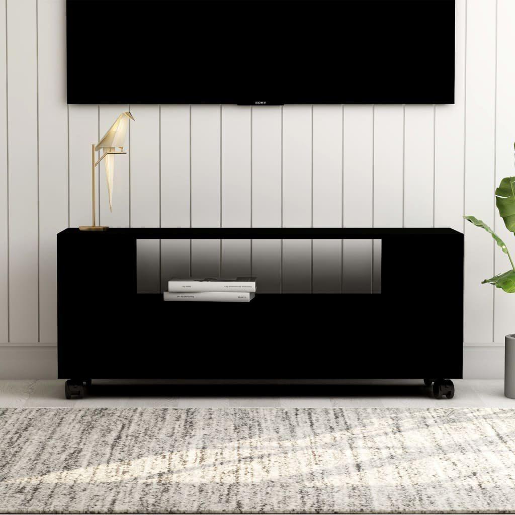 vidaXL VidaXL Szafka pod TV, czarna, 120x35x43 cm, płyta wiórowa 1