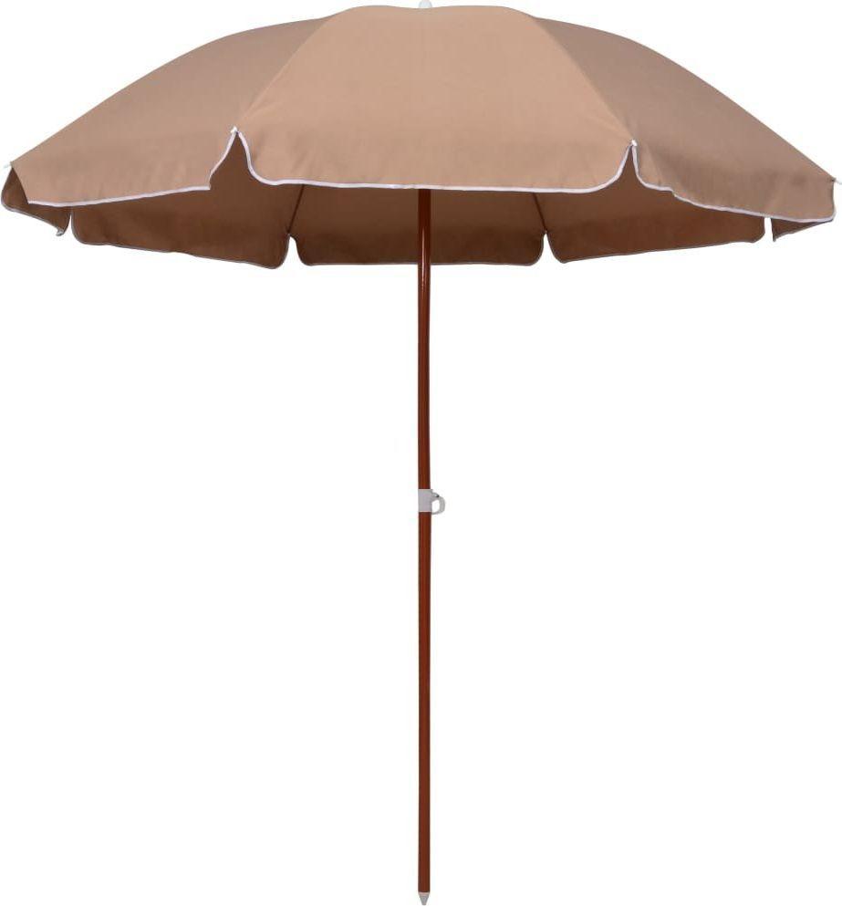 vidaXL VidaXL Parasol na stalowym słupku, 240 cm, kolor taupe 1