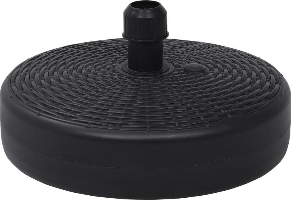 vidaXL Podstawa do parasola, wypełniana wodą/piaskiem, 24 L, czarna (47855) 1