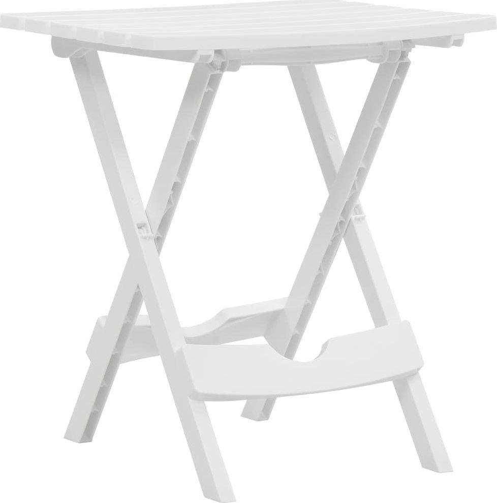 vidaXL składany stół ogrodowy, 45,5x38,5x50 cm, biały (47690) 1