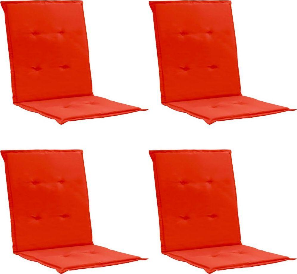 vidaXL Poduszki na krzesła ogrodowe, 4 szt. czerwone 100x50x3cm (47559) 1
