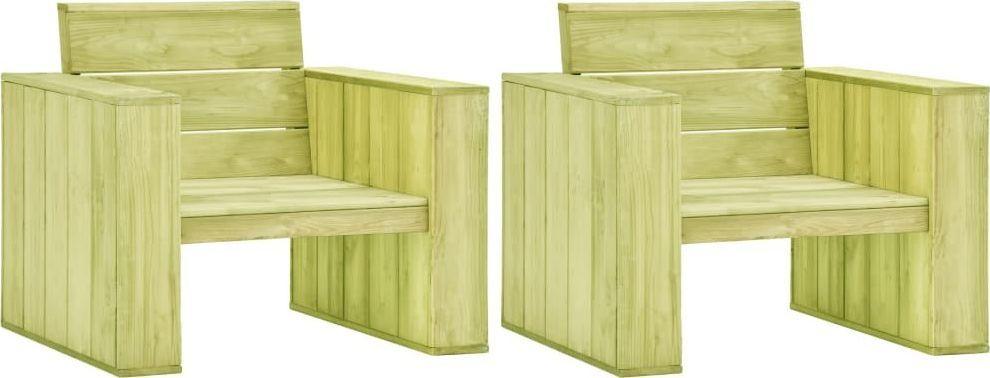 vidaXL krzesła ogrodowe 2 sztuki, 89x76x76 cm, impregnowana sosna (3053201) 1