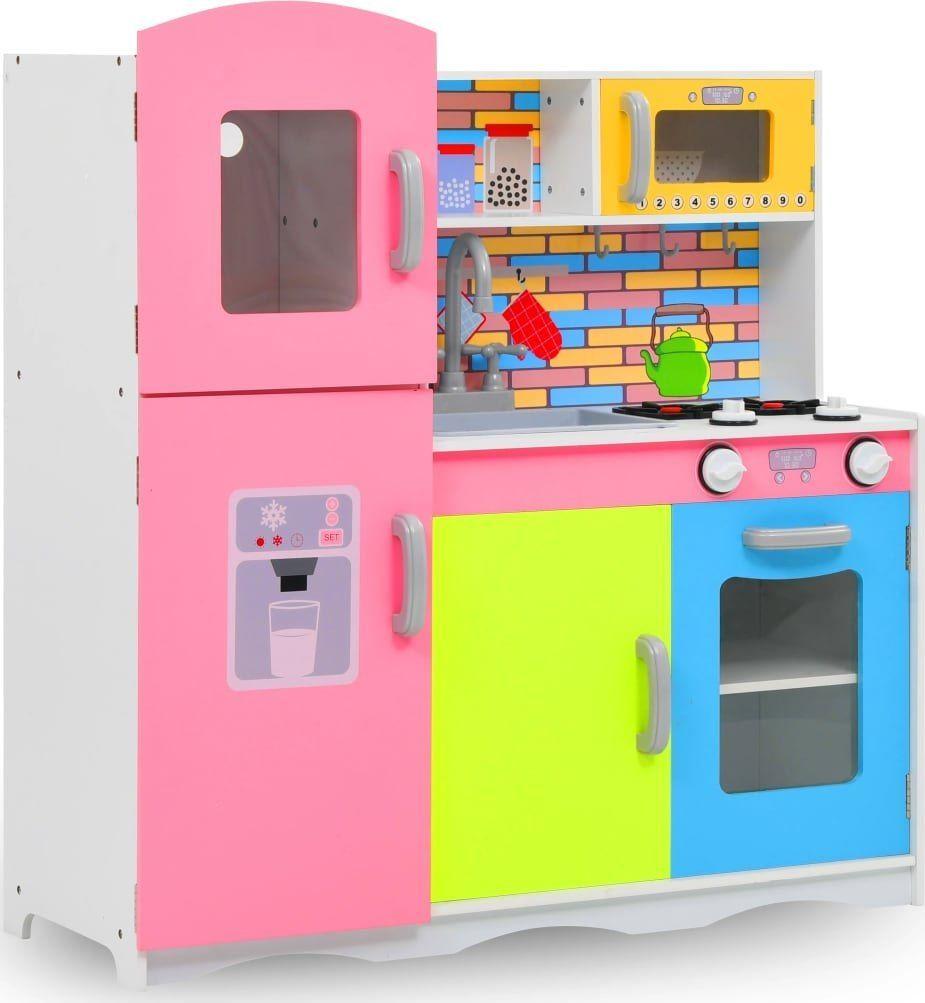 vidaXL VidaXL Zabawkowa kuchnia, MDF, 80 x 30 x 85 cm, wielokolorowa 1