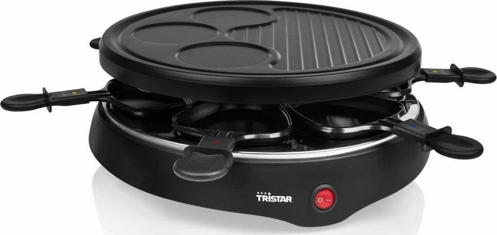 Grill elektryczny Tristar Tristar Grill raclette dla 6 osób, 800 W, 29 cm, czarny 1