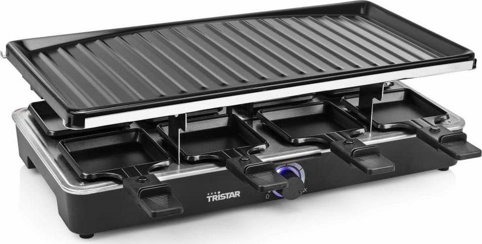 Grill elektryczny Tristar Tristar Grill raclette dla 8 osób, 1400 W, 46x23 cm, czarny 1