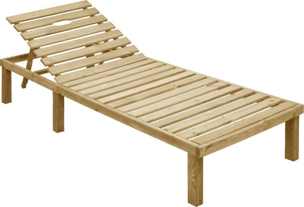 vidaXL leżak, impregnowane drewno sosnowe (49087) 1