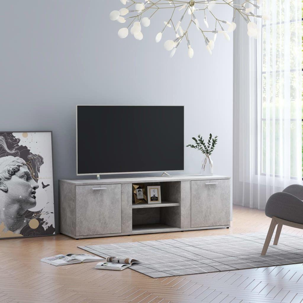 vidaXL Szafka pod TV, szarość betonu, 120x34x37 cm, płyta wiórowa 1