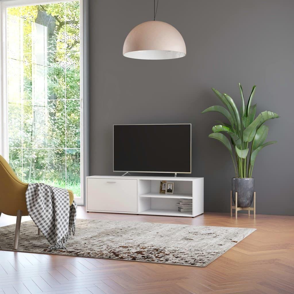 vidaXL Szafka pod TV, biała, 120x34x37 cm, płyta wiórowa 1