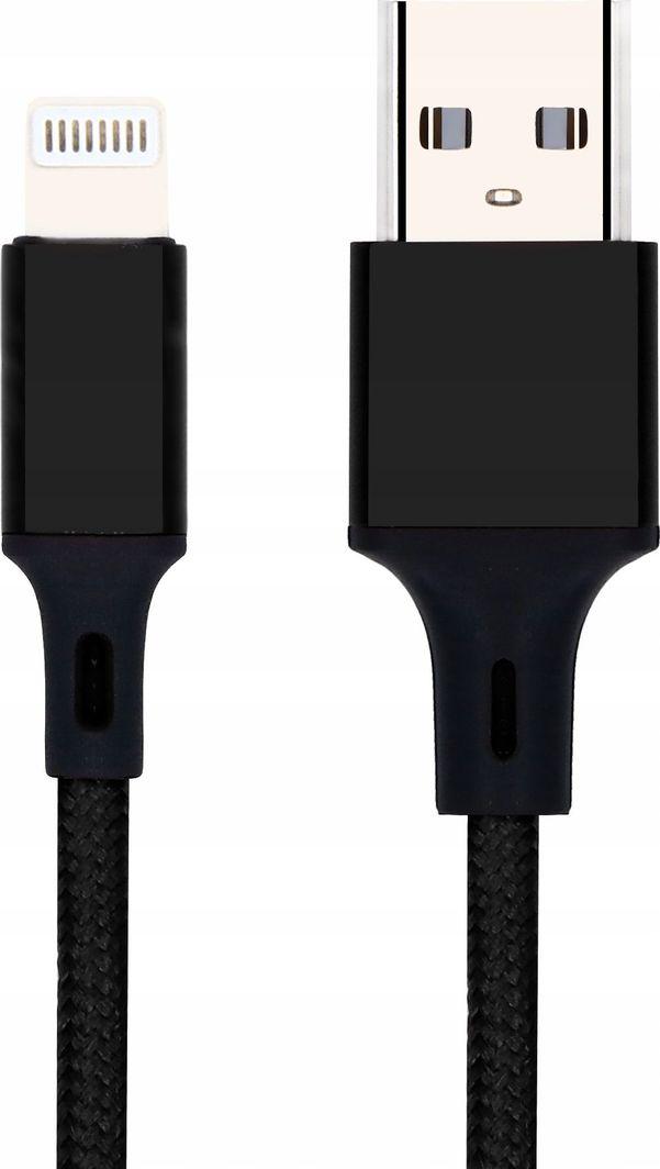 Kabel USB Pawonik WZMOCNIONY KABEL USB LIGHTNING IPHONE NYLON 2,4A 1