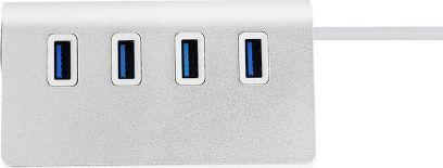 HUB USB M555010 4-portowy USB 2.0 srebrny 1
