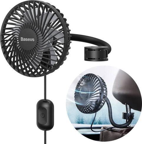 Baseus Samochodowy wiatrak Vehicle Fan do zagłówka 1.2m (CXQC-B03) 1