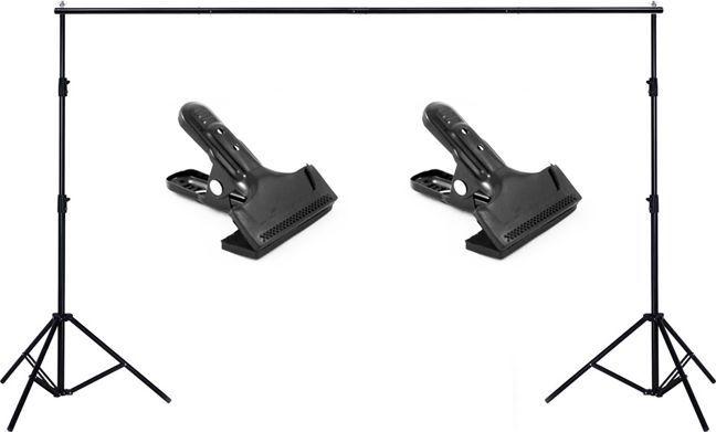 Massa Atelier / Zestaw do mocowania teł / 280 x 315cm / statyw + poprzeczka + klipsy 1