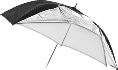 Massa Parasolka 2w1 BIAŁA - DYFUZOR + ODBIJAJĄCA - SREBRNA / 110 cm (SB4456) - SB4456 1