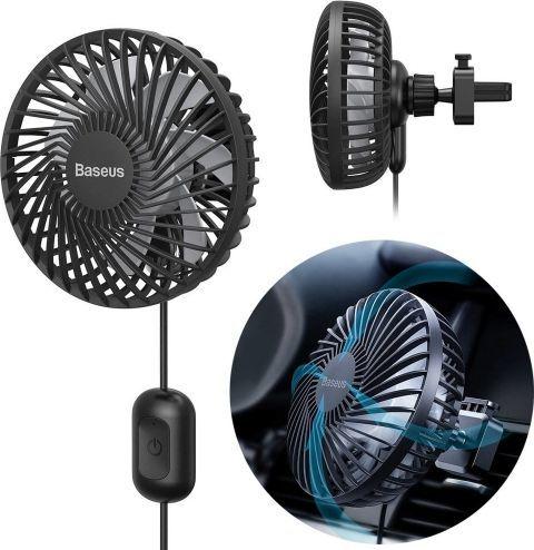 Baseus Samochodowy wiatrak Vehicle Fan do kratki 1.2m (CXQC-A03) 1