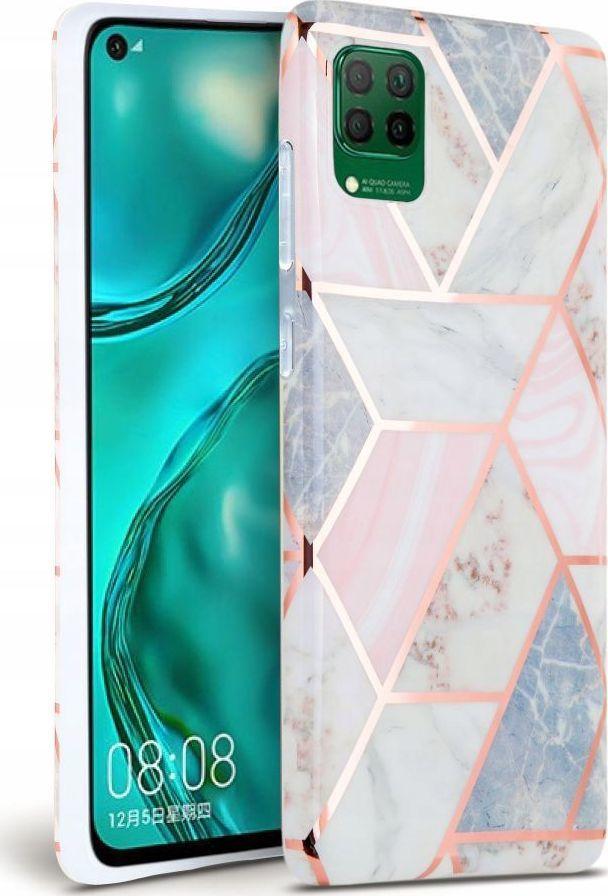 Tech-Protect Etui Tech-Protect Huawei P40 Lite Marble różowy/pink 1
