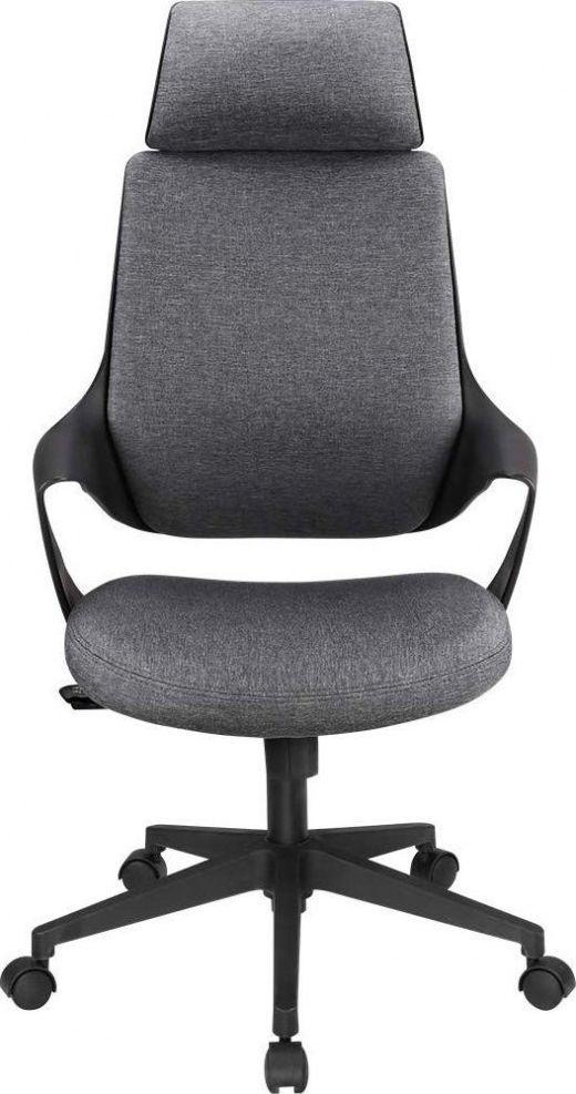 Techly Obrotowy fotel biurowy z wysokim oparciem i zagłówkiem 1
