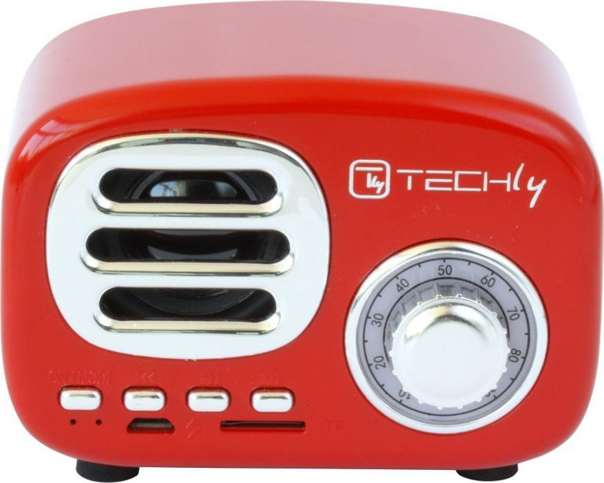 Głośnik Techly Retro czerwony 1