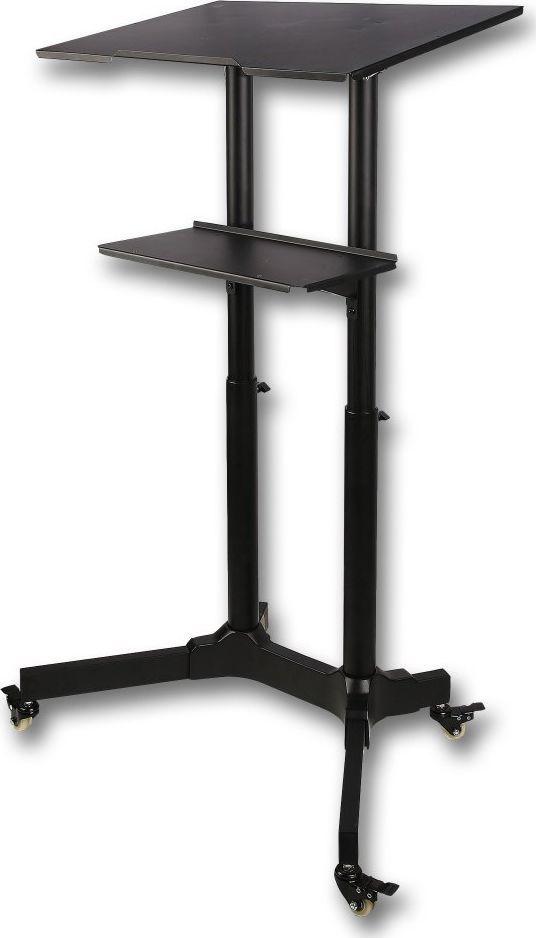 Techly Uniwersalne mobilne biurko stolik prezentacyjny czarny (ICA-TB TPM-1BK) 1