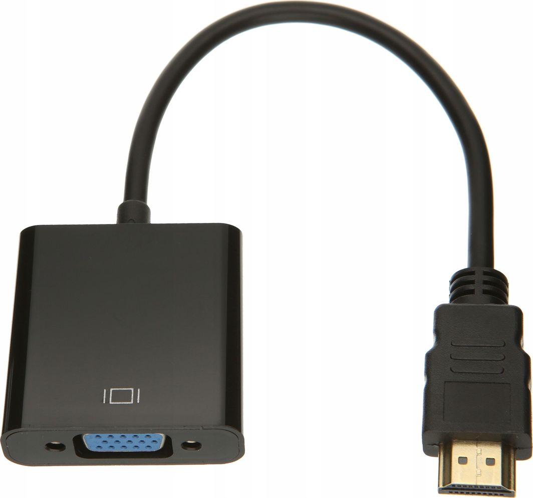Adapter AV Pawonik HDMI - D-Sub (VGA) czarny (JL-H1003) 1