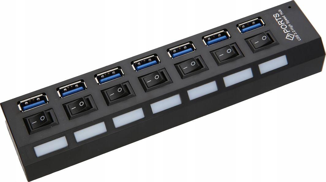 HUB USB Pawonik HUB USB 3.0 7 Portów x7 ROZGAŁĘŹNIK Rozdzielacz 1