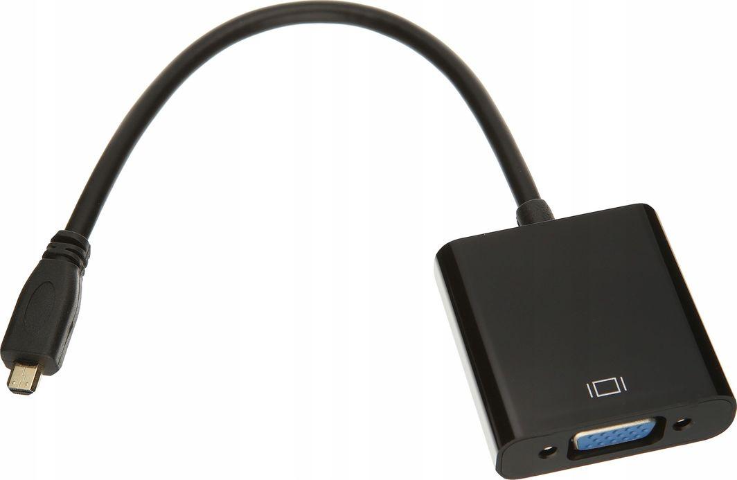Adapter AV Pawonik HDMI Micro - D-Sub (VGA) + Jack 3.5mm czarny 1