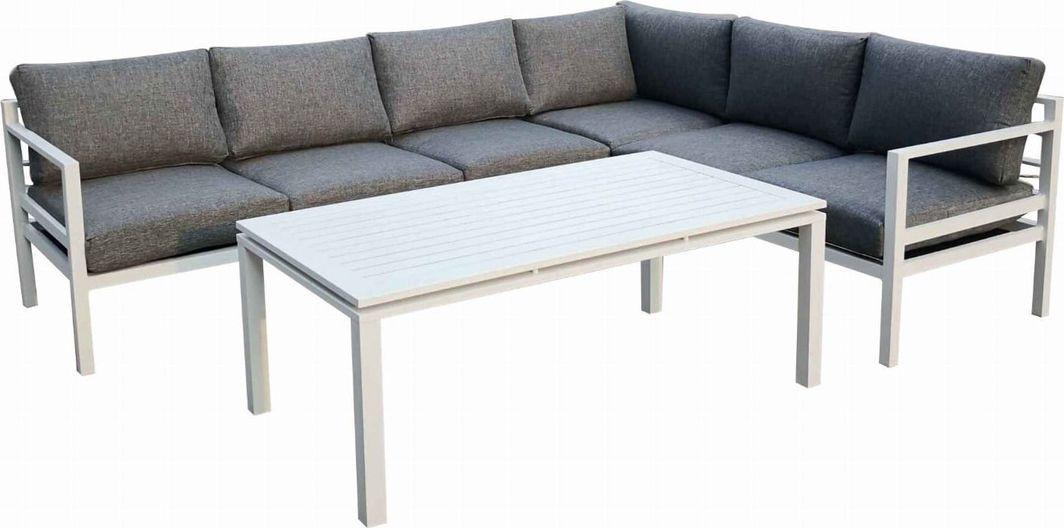 Bello Giardino narożnik ogrodowy Alluminio Grande biały, 5 elementów (28603600) 1