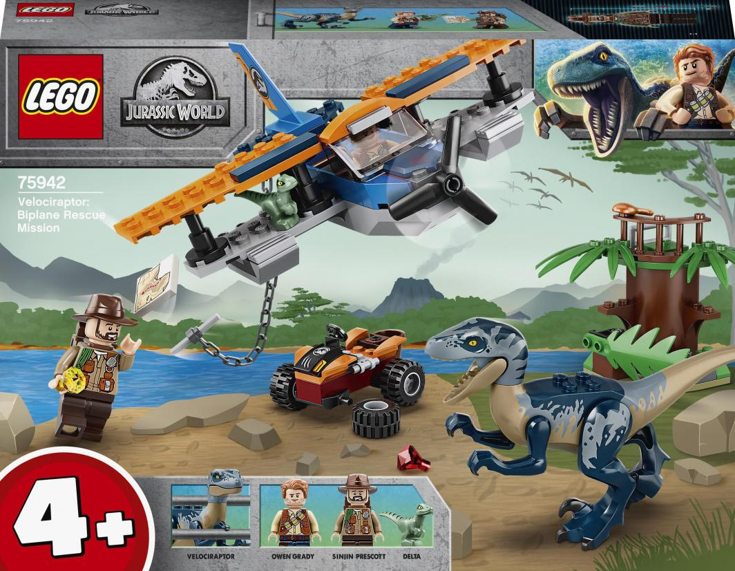 LEGO Jurassic World Welociraptor: na ratunek dwupłatowcem (75942) 1