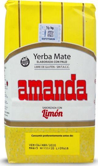 AMANDA Yerba Mate Amanda Limon Cytrynowa 500g 1