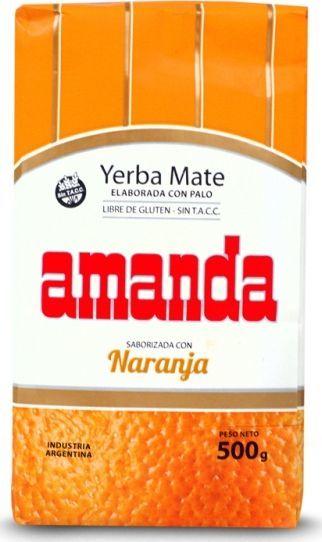 AMANDA Yerba Mate Amanda Naranja Pomarańczowa 500g 1