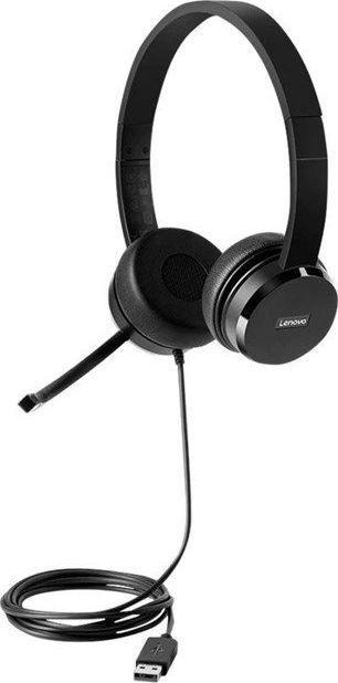 Słuchawki z mikrofonem Lenovo 100 USB Stereo (4XD0X88524-4XD0X88524) 1
