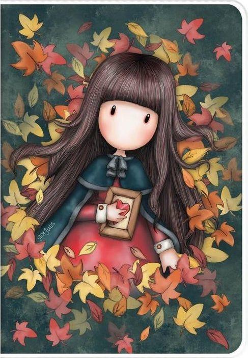 Santoro Zeszyt A5 w plastikowej okładce - Autumn Leaves 1