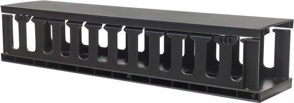Techly Organizer kabli 2U do szaf rack 19 z pokrywą, czarny 1