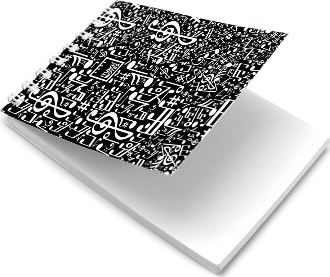 Make Notes MN Music Kołonotes A7 64 stron czarny gładki 1