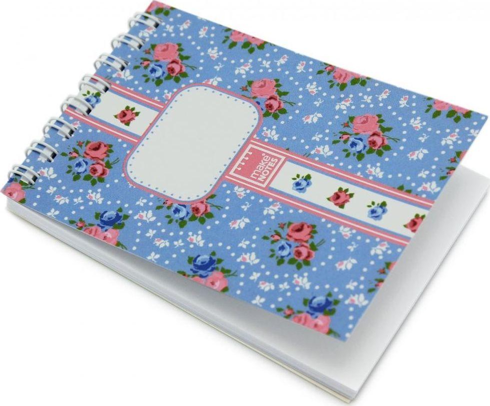 Make Notes Vintage Blue Kołonotes A7/64K gładki 1