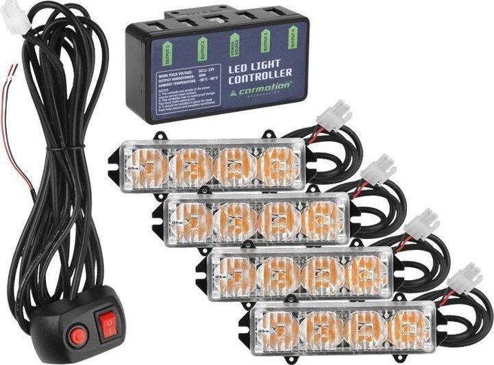 Carmotion Stroboskopy stroboskop lampki lampy ostrzegawcze LED kogut uniwersalny 1