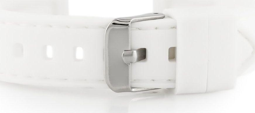 Pasek gumowy do zegarka - przeszywany biały 18mm uniwersalny 1