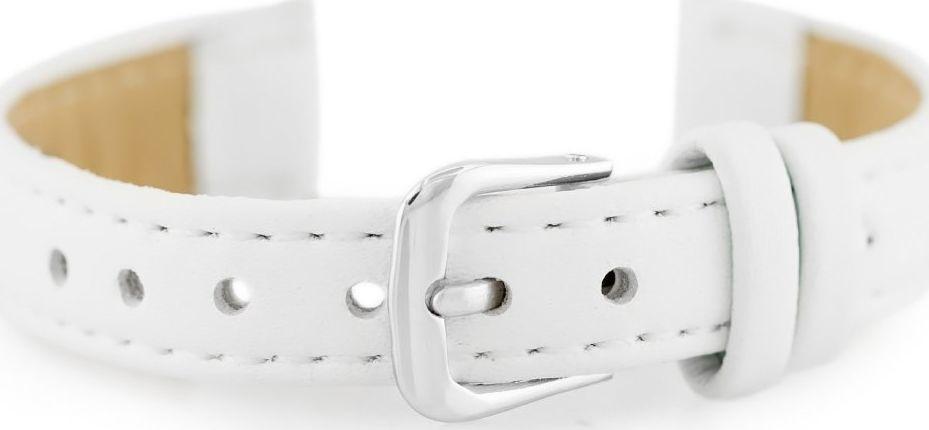 Pasek skórzany do zegarka - biały - 12mm uniwersalny 1