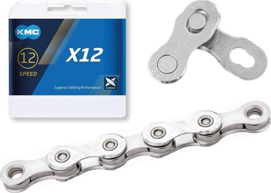 KMC Łańcuch KMC X12 srebrny, 126 ogniw 12-rzedowy uniwersalny 1