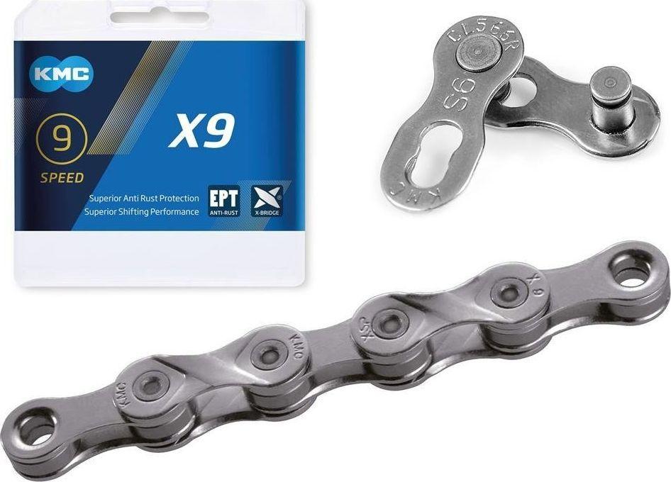 KMC Łańcuch KMC X9 EPT, 114 ogniw, 6,6mm, 9-rzędowy uniwersalny 1