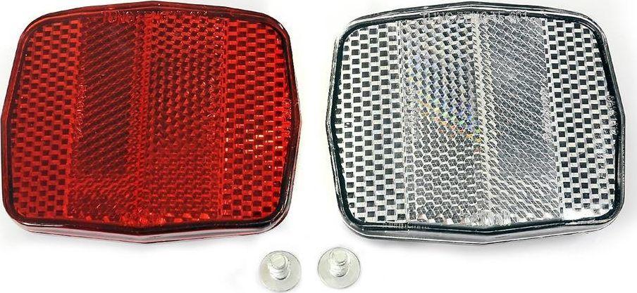Odblask TF-601 bały i czerwony (10003) 1