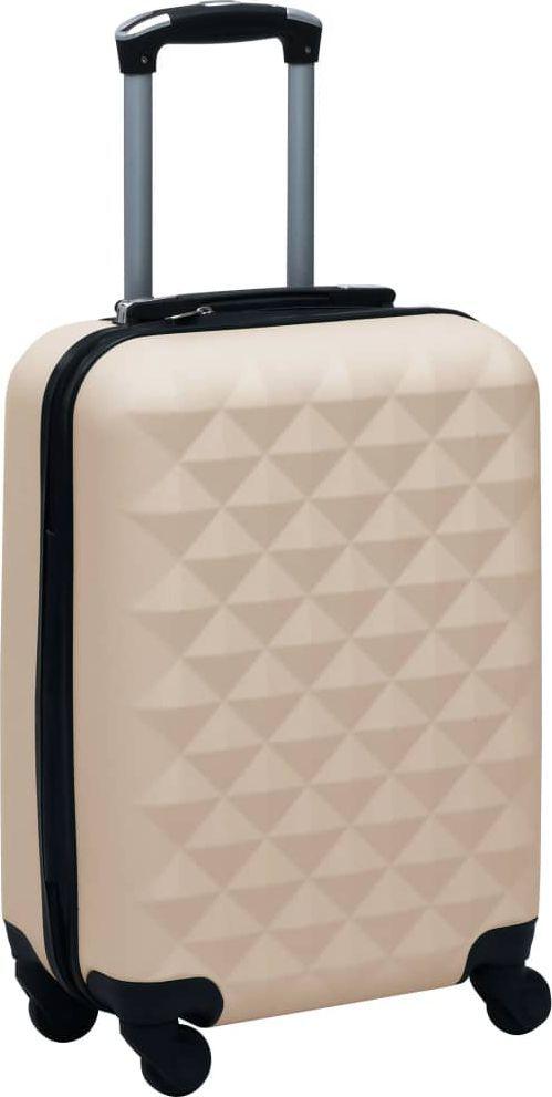 vidaXL Twarda walizka na kółkach, złota, ABS 1