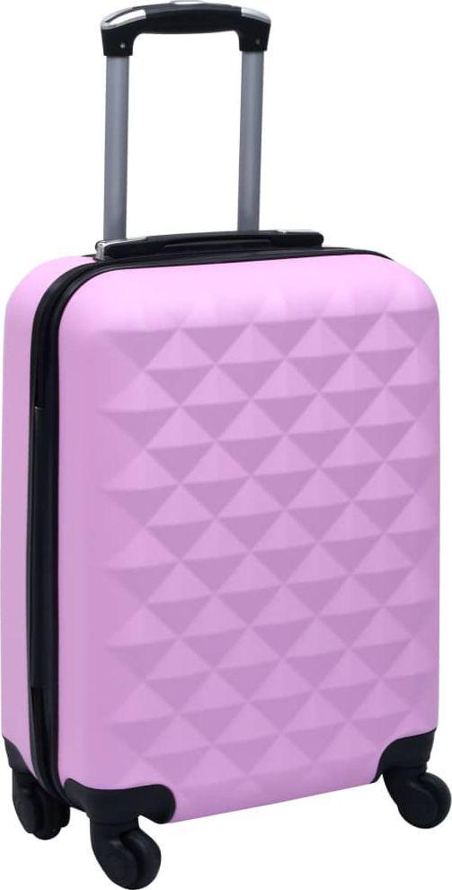 vidaXL Twarda walizka na kółkach, różowa, ABS 1