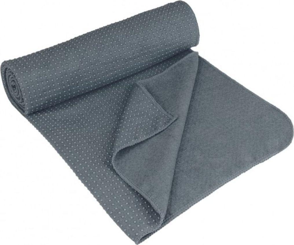 Avento Antypoślizgowy ręcznik do jogi Aura, szary 1
