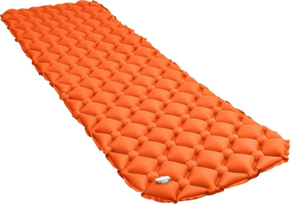 vidaXL VidaXL Dmuchany materac, 58x190 cm, pomarańczowy 1
