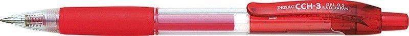 Penac Długopis automatyczny żelowy PENAC CCH3 0,5mm, czerwony 1