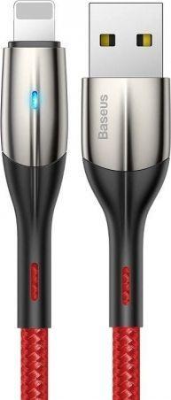 Kabel USB Baseus Kabel Lightning z diodą LED Baseus Horizontal 1m 2.4A (czerwony) ID produktu: 6794970