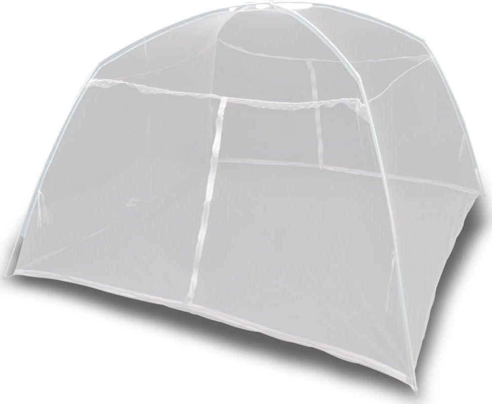 vidaXL Moskitiera namiotowa z włókna szklanego biała 200x120x130 cm 1
