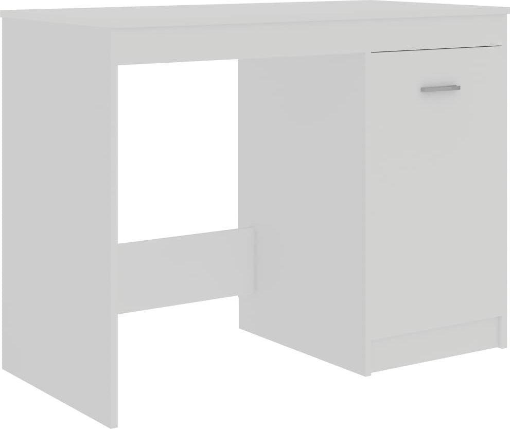 Biurko vidaXL z wbudowaną szafką 100x50x76 1