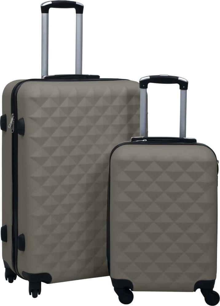 vidaXL Zestaw twardych walizek na kółkach, 2 szt., antracytowy, ABS 1